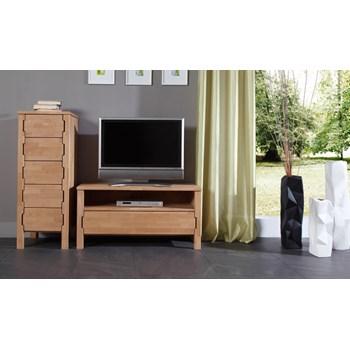 Comoda TV din lemn masiv de fag Koli TV 1000 clear