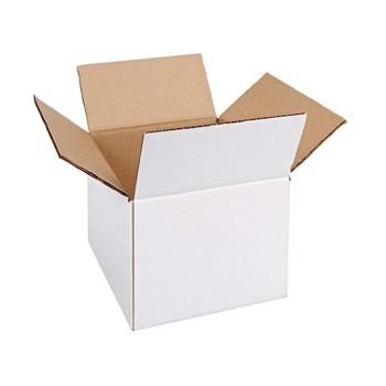 Cutie carton 200x200x150, alb, 3 straturi CO3, 435 g/mp