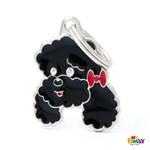 Medalion pentru caini MyFamily Poodle black