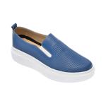 Pantofi PASS COLLECTION albastri, K92102, din piele naturala