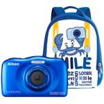 Aparat foto compact Nikon Coolpix W100 13.2 Mpx zoom optic 3x subacvatic Backpack Kit Blue