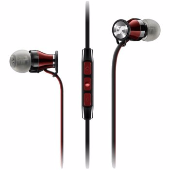Casti Sennheiser Momentum In-Ear I, pentru iPhone, Negru/Rosu
