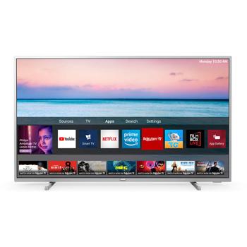Televizor LED Smart Philips, 65PUS6554/12, 164 cm, 4K Ultra HD, Argintiu
