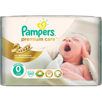 Scutece PAMPERS Premium Care 0 New Born Carry Pack 30 buc