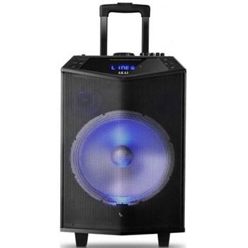 Boxa portabila Akai ABTS-DK15 cu BT, lumini disco, functie inregistrare, microfon
