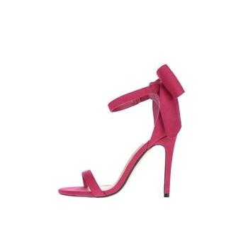 Sandale roz Miss Selfridge cu funda decorativa