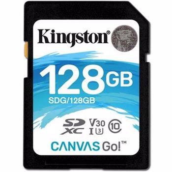 Card de memorie Kingston SDXC 128GB Clasa 10 U-3 V30 R-W 90-45 sdg/128gb