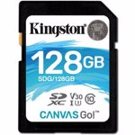 Card de memorie Kingston SDXC 128GB Clasa 10 U-3 V30 R-W 90-45 sdg/128gb