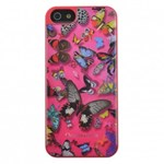 Capac Protectie Spate Christian Lacroix pentru iPhone 6 6s Colectia Butterfly - Roz