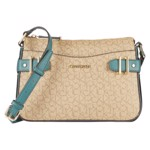 Genti Femei Calvin Klein Key Item Signature Crossbody Mini Textured KhakiBrownJungle