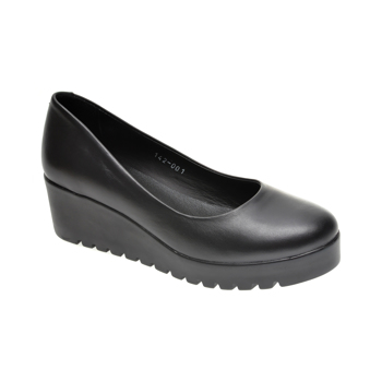 Pantofi LE BERDE negri, 1791420, din piele naturala