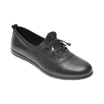 Pantofi ECLIPSE negri, 408, din piele naturala
