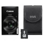 Aparat Foto Digital Canon IXUS 190 Essential Kit, 20 MP, Filmare HD, Zoom optic 10x (Negru)