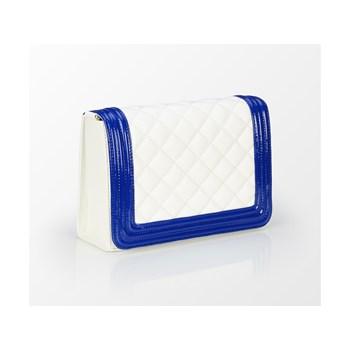 Geanta casual dama Tris Company alb-albastru