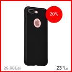 Husa Capac spate Painted Negru Apple iPhone 7 Plus, iPhone 8 Plus