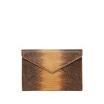 Genti Femei Rebecca Minkoff Leo Snakeskin Embossed Leather Envelope Clutch NUTMEG