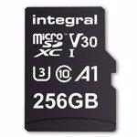 Card de Memorie Integral 256GB MICRO SDXC 90V30 U3 V30 cu adaptor inmsdx256g-100/90v30