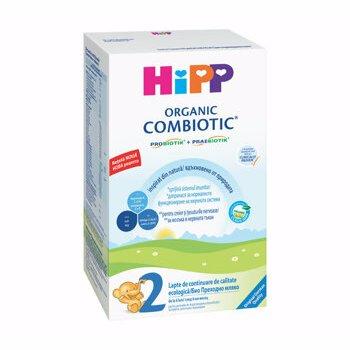 Organic Combiotic 2 formula de lapte de continuare, +6 luni, 300 g, Hipp
