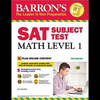 Barron's SAT Subject Test: Math Level 1, 7th Edition: With Bonus Online Tests, Sharon Weiner Green (Author)