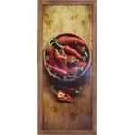 Tablou cu ceas inramat 20x50 cm Red Pepper HR-F143-20/50