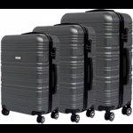 Set trolere KRING Lyon ABS, 55 cm+65 cm+75 cm, Dark Grey