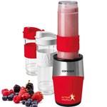 Smothie maker Concept SM3386 500 W 2 x 570 ml + 1 x 400 ml Recipiente tritan Fara BPA Rosu sm3386