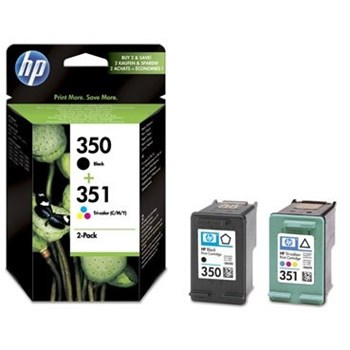 Combo-pack HP 350 351 Inkjet Print Cartridges sd412ee