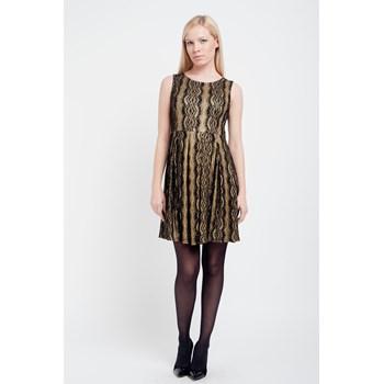 Rochie cu pliuri Cutie London auriu-negru