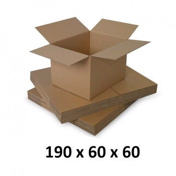 Cutie carton 190x60x60, natur, 5 straturi CO5, 690 g/mp