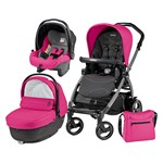 Carucior 3 in 1 Peg Perego Book Plus 51 S Black Sportivo Bloom Bloom Pink