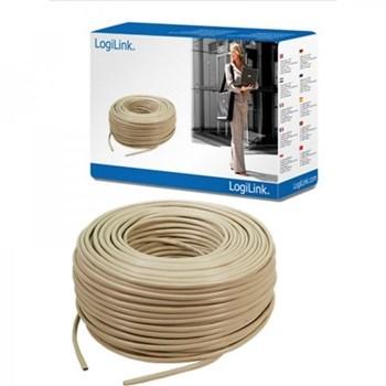 Cablu Logilink CPV0015, retea UTP cat. 5e 305m, Alb