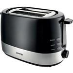 Prajitor de paine Gorenje T850BK, 850 W, 2 Felii, Control electronic cu 7 grade de rumenire, Negru/Inox