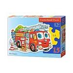 Puzzle contur Masina de pompieri, 15 piese