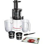 Bosch Storcator de fructe cu melc MESM500W, 150 W, 55 rpm, 2 filtre, melc din Tritan, Reverse, DripStop, alb