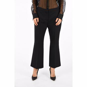 Alexander McQueen Regular Waist Flare Pants Culoarea BLACK