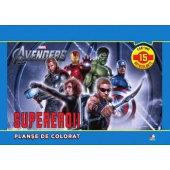 Supereroii. Planse de colorat
