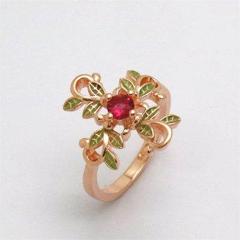 1PC Inel Fashion, pentru Femei, In Forma de Frunza Cruce, Placat cu Aur Roz
