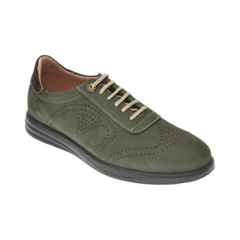 Pantofi OTTER verzi, E881, din nabuc