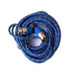 Cablu microfon, XLR mama-tata, 5 m, Albastru