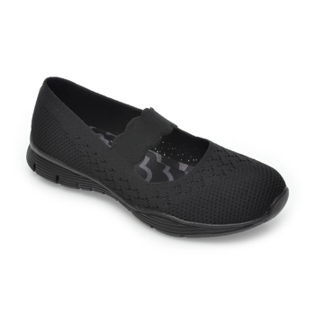 Pantofi sport SKECHERS negri, Seager Power Hitter, din material textil