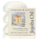 Sapun Crabtree & Evelyn Jojoba Oil Triple Milled Shell set 3x100g