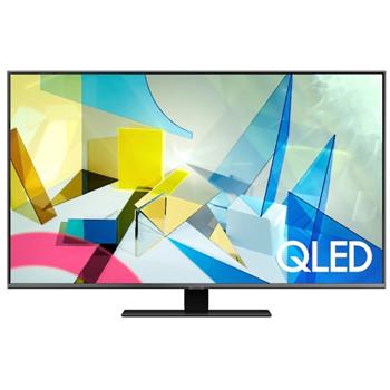 Televizor QLED Samsung QE50Q80TA, 127 cm, 4K UHD, PQI 3200, Dolby Digital Plus, Procesor Quantum 4K, Smart TV, Mod jocuri, Wi-Fi, Bluetooth, CI+, Clasa energetica B, Carbon silver