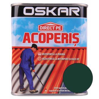 Vopsea Oskar Direct pe acoperis, verde inchis, exterior, 0,75 l