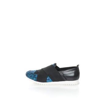 Pantofi slip-on de piele cu insertii stralucitoare
