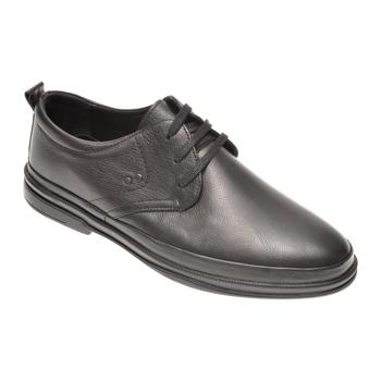 Pantofi OTTER negri, 66402, din piele naturala