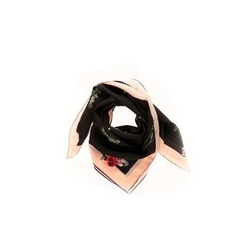 Esarfa Pieces Mio roz cu negru