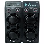 Set boxe audio portabile Samus Twin Sound 20 + microfon cu fir 3000 W Negru TWIN SOUND 20