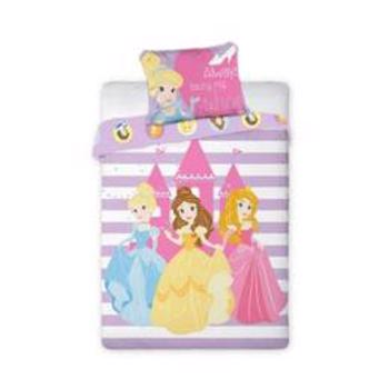 Lenjerie de pat copii Disney Princess 100 x 135 cm