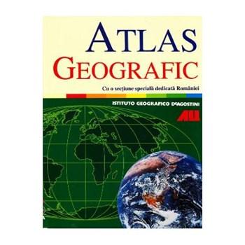 Atlas geografic cu o sectiune speciala dedicata Romaniei
