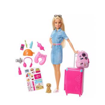 FWV25 Doll and Travel Set with Puppy